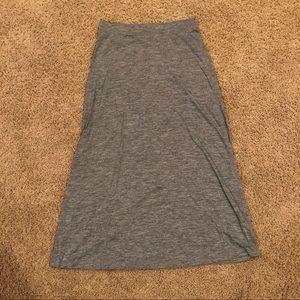 Gap Heathered Gray Maxi Skirt